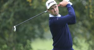 Niall Kearney of Royal Dublin GC: shot a second round 66 to reach 13 under with 36 holes remaining at the Irish PGA Championship in Dundalk. Photograph: Fran Caffrey/Golffile