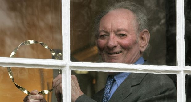 "Brian Friel ""was fatherly, kind, practical and funny. He seemed to look deep into the centre of things."" File photograph:  Dara Mac Dónaill/The Irish Times"