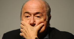 A file image of Fifa president Sepp Blatter.  Photograph: PA