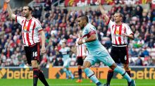Dimitri Payet celebrates after scoring the second goal for West Ham Reuters / Graham Stuart