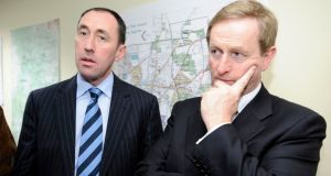 "Pat Deering pictured with party leader Enda Kenny: ""I do not see any benefit in going in November. We will have more of a benefit from the budget in February."" Photograph: Liam Sweeney."