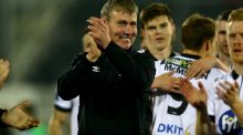 Dundalk manager Stephen Kenny at the end of Friday night's FAI Cup semi-final. Photograph: Inpho/Donall Farmer