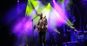 Hozier performs at Radio City Music Hall on September 29th in New York City. Photograph: Brad Barket/Getty Images.