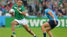 Simon Zebo faces a battle for the fullback berth against France with Rob Kearney. Photograph: Glyn Kirk/AFP/Getty Images
