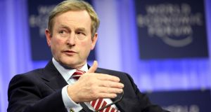 "Enda Kenny: suddenly, Enda has come over all coy. He had been happy to state his measure. Now, he doesn't know how to say ""when"". In Leinster House, people are puzzled. Photograph: Bloomberg"