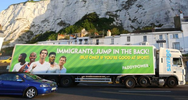 Paddy Power to be censured for 'immigrants jump in' ad