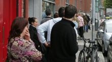 Queueing for a living: Dublin's Northside Partnership, which operates in an area covering 130,000 people, has been singled out for praise for its approach to dealing with the long-term unemployed. Photograph: Frank Miller/The Irish Times