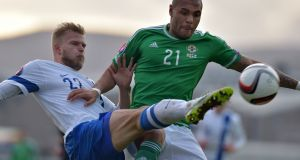 Northern Ireland striker Josh Magennis, who currently plays for Kilmarnock in the Scottish Premiership.