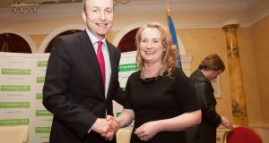 Mary Fitzpatrick (pictured with party leader Micheál Martin) was also selected last year to run for Fianna Fáil in the European Parliament election.