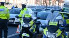 Provisional figures from the Garda show 20,684 notices were given to drivers in the first seven months of 2014, with just 17,191 for the corresponding period this year. Photograph: Cyril Byrne