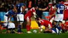 Captain Mamuka Gorgodze's try was enough for Georgia against Namibia. Photograph: Getty