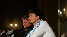Germany's Mats Hummels during Wednesday's press conference in Dublin. Photograph: Andrew Couldridge/Reuters