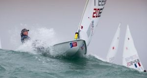 Annalise Murphy is competing at the Semaine Olympique Française this week in La Rochelle, France.