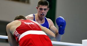Joe Ward: will be bidding to join his team-mates in the last eight.  Photograph: Kostadin Andonov/Inpho
