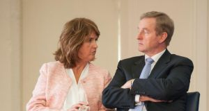 Tánaiste Joan Burton highlighted the role of women in the Rising. Photograph: Dave Meehan