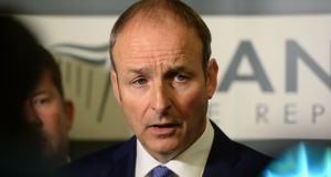 Fianna Fáil leader Micheál Martin: a Dublin councillor has referred to the party's gender  quota policy as 'disgusting, degrading and deplorable'. Photograph: Dara Mac Donaill