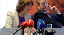 Taoiseach Enda Kenny and Tánaiste Joan Burton. Photograph: Eric Luke/The Irish Times