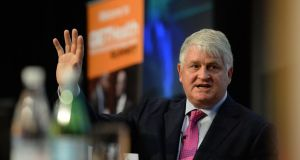13/11/2014.  - NEWS - HEALTH -Denis O'Brien, at the GETHealth, Global Education & Technology Health Summit, organised by John Hopkins Centre for Clinical Global Health Education,  in Dublin Castle on Thursday.Photograph; Dara Mac Dónaill / The Irish TimesPhotograph; Dara Mac Donaill / The Irish Times