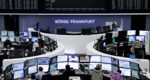 Top European stocks climbed to a one-month high on Friday and were set for their best weekly gain since late January on renewed hopes that central banks would keep monetary policy loose for longer.