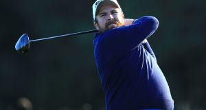 Shane Lowry posted a second round 69 to sit two shots off the lead of Matt Fitzpatrick at the British Masters. Photograph: PA