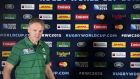 Ireland coach joe Schmidt is expecting a combative encounter against France on Sunday. Photograph: Afp