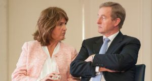 Taoiseach Enda Kenny and Tánaiste Joan Burton pictured last week.  Photograph: Dave Meehan/The Irish Times