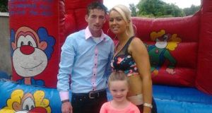 Willie Lynch, Tara Gilbert and Jodie (9) who died in the fire in Carrickmines.