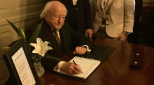 President Higgins offers condolences on Omeath and Carrickmines tragedies