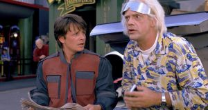 Marty McFly (Michael J Fox) and Doc Brown (Christopher Lloyd) in 'Back to the Future Part II': futuristic depiction of this coming Wednesday