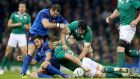 Ireland flanker Sean O'Brien arrived at 44 breakdowns against France. Photograph: James Crombie/Inpho