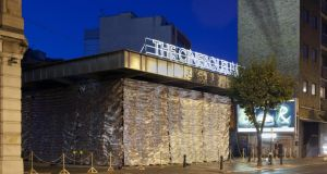 Cineroleum, a temporary cinema in a disused petrol station in Clerkenwell. Photograph: Morley Von Sternberg