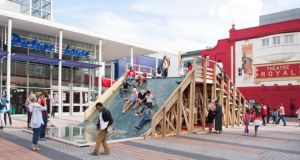 The Big Slide: a temporary structure in Stratford for children