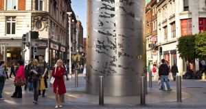 The Spire on O'Connell Street in Dublin can physically change depending on the weather. Photograph: Getty Images