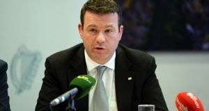 Minister for the Environment, Community and Local Government Alan Kelly, at the post-budget press conference in Government Buildings. Photograph: Eric Luke