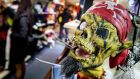 Modern Halloween products on display in a shop. Photographs: Koen Van Weel/AFP/Getty