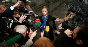 Abuse survivor: Maíria Cahill talks to the media in Dublin last year. Photograph: Brian Lawless/PA Wire