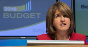 Tánaiste Joan Burton: has proposed the establishment of a rent regulator as part of the Government's housing package. Photograph:  Gareth Chaney Collins