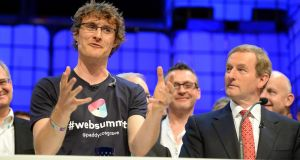 Paddy Cosgrave with  Taoiseach Enda Kenny at the Web Summit last year.