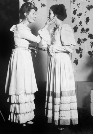 Joan Bergin and Olwen Fouéré in A Month in the Country by Ivan Turgenev, 1975. Photograph by Fergus Bourke.
