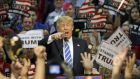 US Republican presidential candidate Donald Trump: the billionaire said he is self-financing his campaign but still yielded $3.8 million from 74,000 donors. Photograph:  Jay Paul/Reuters