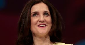 Northern Secretary Theresa Villiers who  published a report into the status of the IRA and other paramilitary groups on Tuesday. Photograph: Reuters