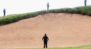 Jamie Donaldson in action on the 17th hole during the Irish Open at Royal Portrush. Photo: Dean Mouhtaropoulos/Getty Images