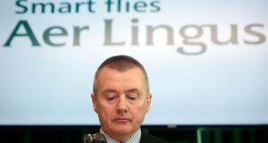 Willie Walsh, chief executive of Aer Lingus's parent, International Consolidated Airlines' Group (IAG), said that it would back the Irish carrier in flying to the Far East or South America if it emerges that there is demand for such services. Photograph: Gareth Chaney/Collins