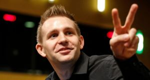 Max Schrems: The European Court of Justice ruling followed legal action brought by the Austrian privacy campaigner over whether his Facebook data was subject to NSA surveillance. Photograph: Julien Warnand/EPA