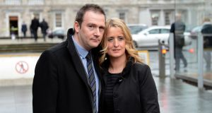 The report into baby Mark Molloy's death is being released at the request of his parents, Mark snr and Roisin (above). File photograph: Eric Luke/The Irish Times