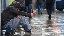 A homeless man in Dublin: more companies are becoming involved in developing long-term partnerships with charities that result in positive projects. Photograph: Alan Betson / THE IRISH TIMES