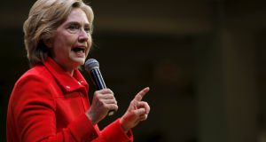 "US Democratic presidential candidate Hillary Clinton has blasted the House select committee  as a ""partisan arm of the Republican national committee""  ahead of her appearance before it. Photograph: Brian Snyder/Reuters"