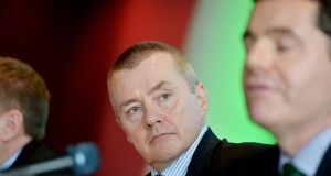 IAG chief executive Willie Walsh at the announcement of the transatlantic expansion of the Aer Lingus long-haul network. Photograph: Alan Betson/The Irish Times