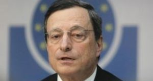President Mario Draghi has said the ECB is prepared to intervene if risks to inflation increase or financing conditions tighten