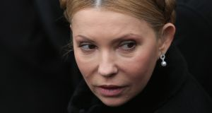 Former Ukrainian prime minister Yulia Tymoshenko. She and her party were trounced in presidential and parliamentary elections last year